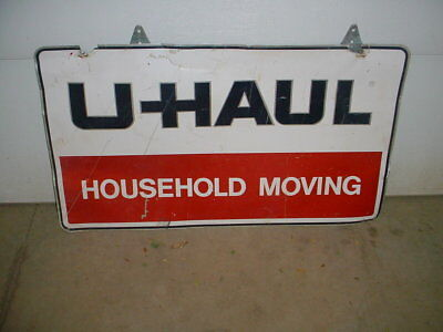 vintage uhaul sign HOUSEHOLD MOVING Advertising  Gas Oil Double Sided Store