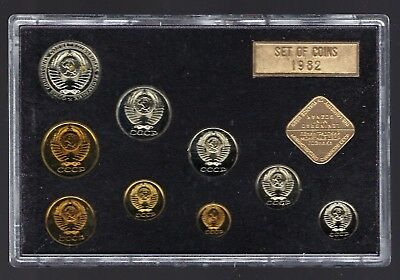 1982 Russia 9 Coin Uncirculated Set