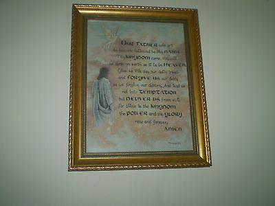 Completed cross stitch - Lords Prayer