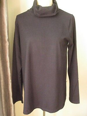 H & M MaMa Maternity  Black Cowl Neck Long Sleeve Top Size Large
