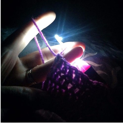 Great Crochet Lite Knitting Needles Sewing Tools Crochet Hook With Led Light Up