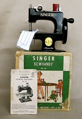 Antique ~ Singer ~ Toy Sewing Machine Circa 1942 ~ Perfect Sewing ~ See Video.