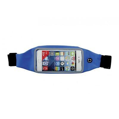 Travel Money iPod Phone Keys Walking Running Gardening Clear Window Belt Blue
