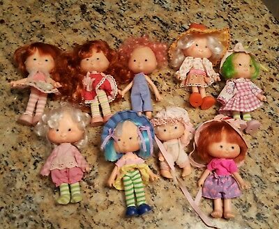 Lot Vintage Strawberry Shortcake Dolls 80's Dolls