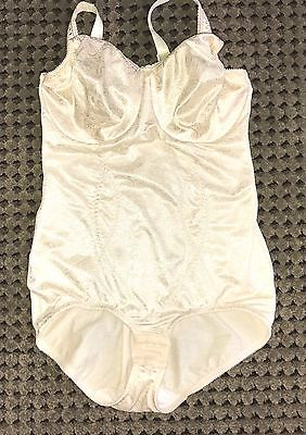 Vtg Bali Yellow  Powernet Open Crotch All In One Panties Girdle Size 38D