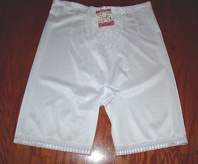 "Vtg ""ornella Intimates""  White Powernet Panties Girdle Size 3Xl New With Tags"