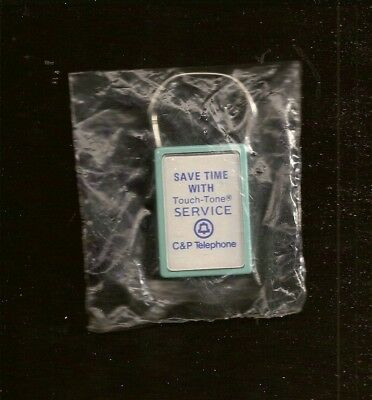Vintage NOS C & P Telephone Touch Tone Snap Off Key Ring Chesapeake Potomac