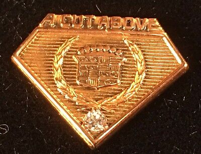 "Cadillac Tie Tac & lapel Pin 10K Gold plate with DIAMOND* ""A CUT ABOVE"""