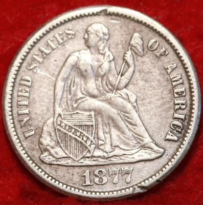 1877-CC Carson City Mint Silver Seated Liberty Dime Free Shipping
