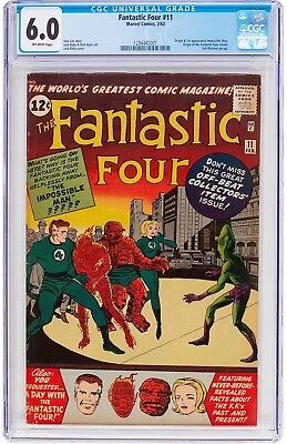 FANTASTIC FOUR #11  CGC FN 6.0 - 1st IMPOSSIBLE MAN 1963 - BEAUTIFUL BOOK