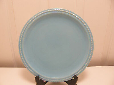 Authentic Catalina Island Pottery 10-1/2 inch Rope edge Plate, turquoise blue