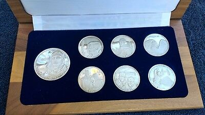 Charles Lindbergh Silver Medallion Collection 50th Anniversary coins/medals
