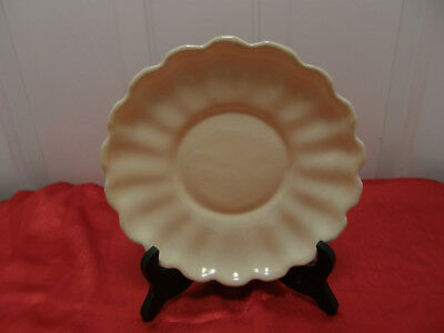 "Authentic Catalina Island Pottery 8"" Shallow Fluted Bowl LT#10"