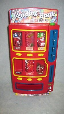 Mars M & M's Candy Vending Machine Bank 2004 Twix Snickers
