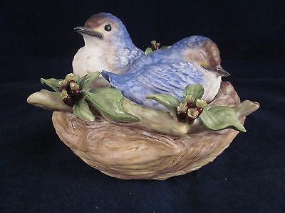 CYBIS Nestling Blue Birds Bluebirds Nest ~ RARE ~ EXCELLENT