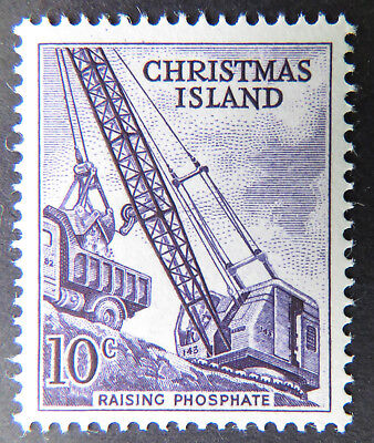 1963 Christmas Island Definitive Stamps - Single 10c - Raising Phosphate MNH