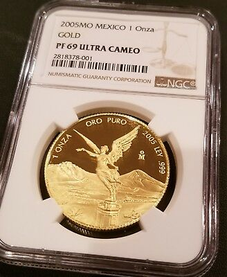 2005 LIBERTAD GOLD PROOF 1 oz .999 NGC PF69 **VERY RARE**
