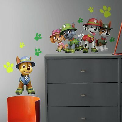 RoomMates Paw Patrol Jungle Peel and Stick Giant Wall Decals