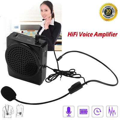Portable Waistband Microphone Voice Booster Loud Amplifier For Teaching Speaker