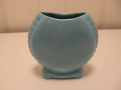 Authentic Catalina Island Pottery scroll Bottom Vase #603, LT 15