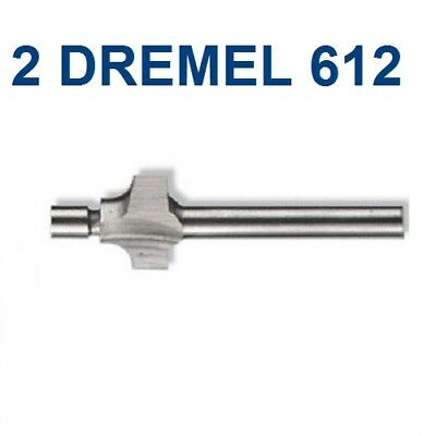 "2 New Dremel Authentic 3/32"" 612 Round Over Router Bit 1/8"" Shank"