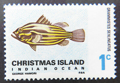 1968 Christmas Island Stamps - Indian Ocean Fish Definitives - Single 1c MNH