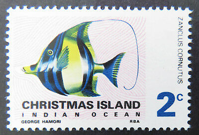 1968 Christmas Island Stamps - Indian Ocean Fish Definitives - Single 2c MNH