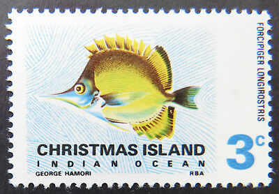 1968 Christmas Island Stamps - Indian Ocean Fish Definitives - Single 3c MNH