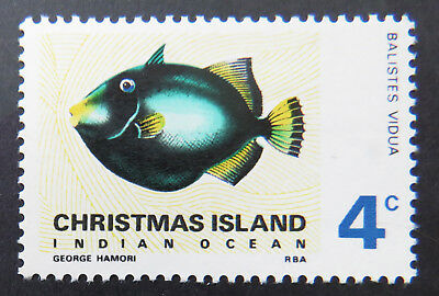 1968 Christmas Island Stamps - Indian Ocean Fish Definitives - Single 4c MNH