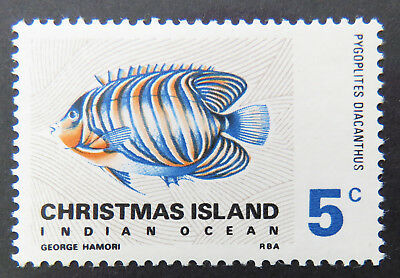 1968 Christmas Island Stamps - Indian Ocean Fish Definitives - Single 5c MNH