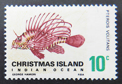 1968 Christmas Island Stamps - Indian Ocean Fish Definitives - Single 10c MNH