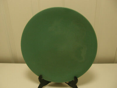 "Authentic Catalina Island Pottery Green 11"" plate, LT 18"