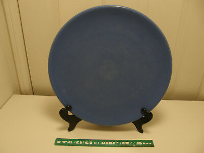 "Authentic Catalina Island Pottery Massive 14"" Rolled Edge Chop Plate, LT 20"