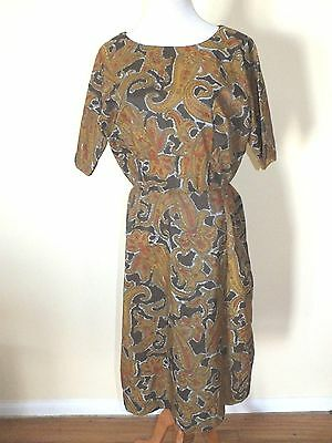 Vintage Womans Handmade Floral Party Dress Mod Retro Joan M. Men Large