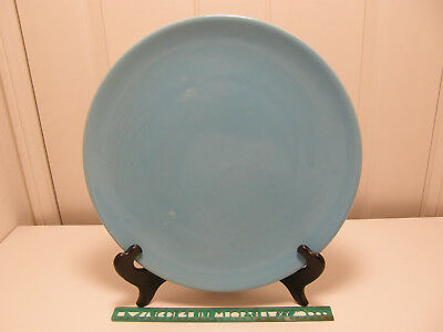 "Authentic Catalina Island Pottery Massive 14"" Rolled Edge Chop Plate, LT 26"