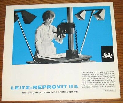 Leitz-Reprovit IIa 1967 Brochure Printed in Germany EXC FREE SHIPPING