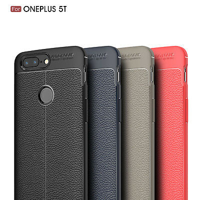 Dooqi Ultra Thin Luxury PU Leather Soft TPU Shockproof Case Cover For OnePlus 5T