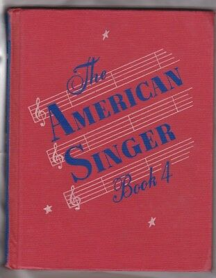 Vintage 1945 The American Singer Book 4 Over 165 Simple Childrens Songs Music