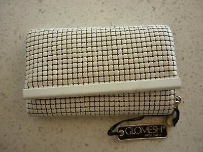 Vintage Glomesh White  Mesh Key Case Not Used Still With Tag