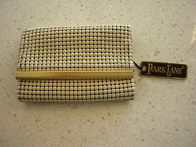 Vintage Park Lane  Bone Mesh  Key Case Wallet Unused With Original Tag