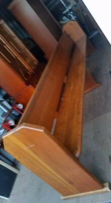 Large Antique Pine Church Pew with Bible rail to rear in great condition for age