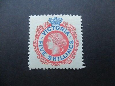 Victoria Stamps: 5/- Commonwealth Period Mint  (I3)