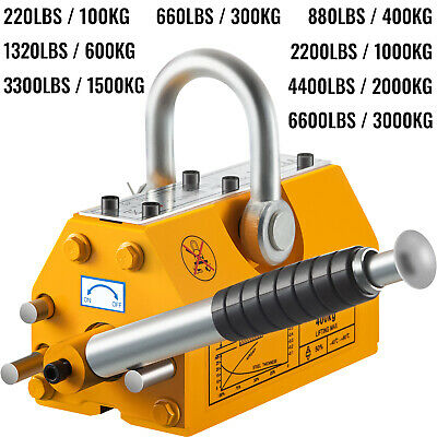 100/300/600/1000KG Lifting Magnet Permanent Magnetic Hoist Crane Lifter