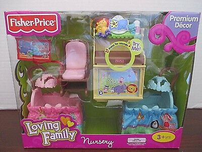 NEW Loving Family Dollhouse Premium Doll House Nursery Furniture Lights & Sounds
