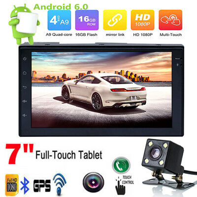 "7"" Android 6.0 WiFi Double 2DIN Car Radio Stereo MP5 Player GPS Navi+Camera RS1"