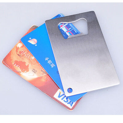 Factory Stainless Steel BEER SODA Bottle Cap Opener Credit Card Size Bar Tool