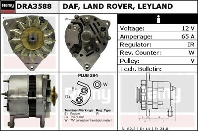 FORD FIESTA Mk2 1.4 Alternator 85 to 89 Remy Genuine Top Quality Replacement