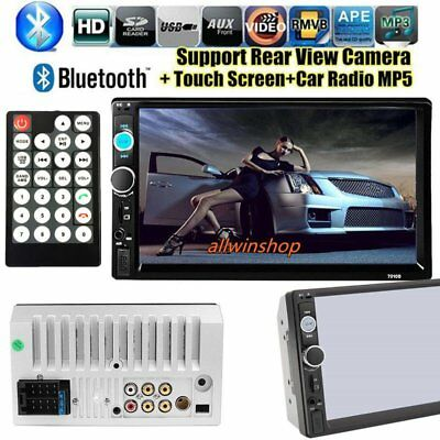 7Inch HD Touch LCD 2-DIN In Dash Bluetooth Auto Car Stereo MP5 Player FM Radio S