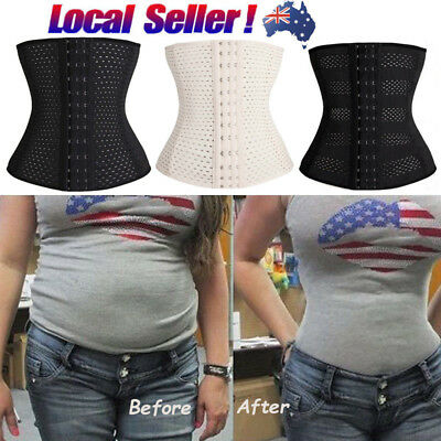 AU Women's Waist Trainer Tummy Girdle Belt Body Shaper Corset Underbust Bustier