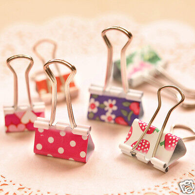 24pcs 25mm Colorful Metal Binder Clips Office School File Photos Paper Organizer